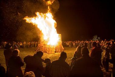 Hogamanay bonfire - 1