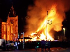 Hogamanay bonfire - 2